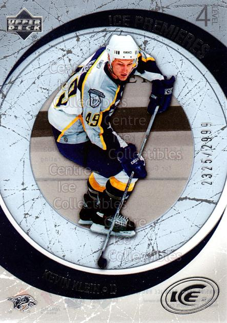 2005-06 UD Ice #220 Kevin Klein<br/>8 In Stock - $3.00 each - <a href=https://centericecollectibles.foxycart.com/cart?name=2005-06%20UD%20Ice%20%23220%20Kevin%20Klein...&quantity_max=8&price=$3.00&code=129025 class=foxycart> Buy it now! </a>