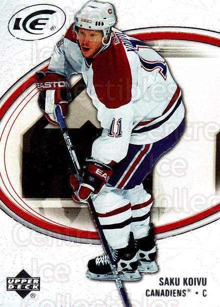 2005-06 UD Ice #50 Saku Koivu<br/>4 In Stock - $2.00 each - <a href=https://centericecollectibles.foxycart.com/cart?name=2005-06%20UD%20Ice%20%2350%20Saku%20Koivu...&quantity_max=4&price=$2.00&code=129076 class=foxycart> Buy it now! </a>