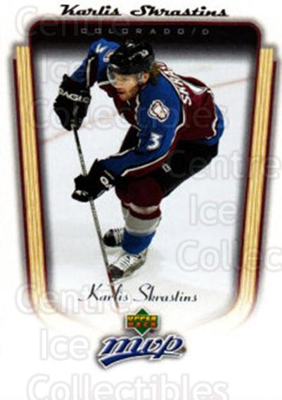 2005-06 Upper Deck MVP #111 Karlis Skrastins<br/>1 In Stock - $1.00 each - <a href=https://centericecollectibles.foxycart.com/cart?name=2005-06%20Upper%20Deck%20MVP%20%23111%20Karlis%20Skrastin...&quantity_max=1&price=$1.00&code=129106 class=foxycart> Buy it now! </a>