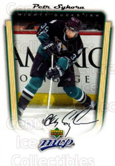 2005-06 Upper Deck MVP #12 Petr Sykora<br/>4 In Stock - $1.00 each - <a href=https://centericecollectibles.foxycart.com/cart?name=2005-06%20Upper%20Deck%20MVP%20%2312%20Petr%20Sykora...&quantity_max=4&price=$1.00&code=129115 class=foxycart> Buy it now! </a>