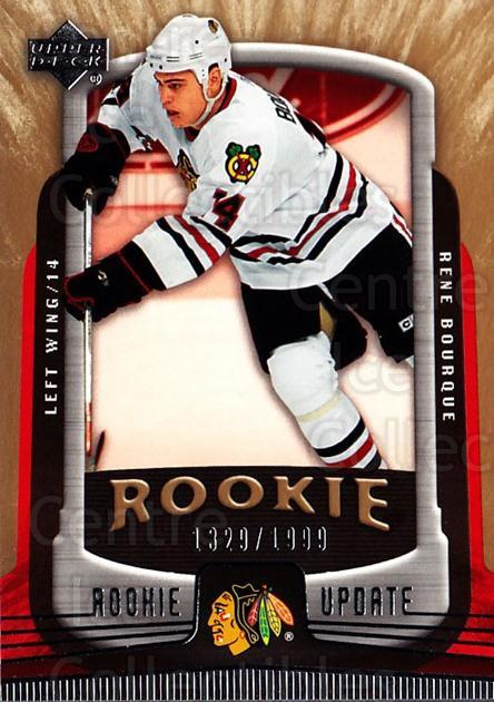 2005-06 Upper Deck Rookie Update #118 Rene Bourque<br/>6 In Stock - $3.00 each - <a href=https://centericecollectibles.foxycart.com/cart?name=2005-06%20Upper%20Deck%20Rookie%20Update%20%23118%20Rene%20Bourque...&quantity_max=6&price=$3.00&code=129243 class=foxycart> Buy it now! </a>