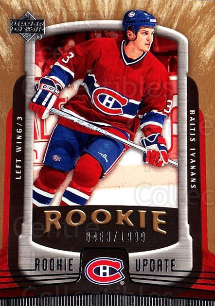2005-06 Upper Deck Rookie Update #148 Raitis Ivanans<br/>2 In Stock - $3.00 each - <a href=https://centericecollectibles.foxycart.com/cart?name=2005-06%20Upper%20Deck%20Rookie%20Update%20%23148%20Raitis%20Ivanans...&quantity_max=2&price=$3.00&code=129270 class=foxycart> Buy it now! </a>