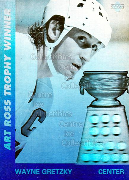 1991-92 Upper Deck Award Winner Holograms #1 Wayne Gretzky, Art Ross Trophy<br/>18 In Stock - $2.00 each - <a href=https://centericecollectibles.foxycart.com/cart?name=1991-92%20Upper%20Deck%20Award%20Winner%20Holograms%20%231%20Wayne%20Gretzky,%20...&price=$2.00&code=12930 class=foxycart> Buy it now! </a>