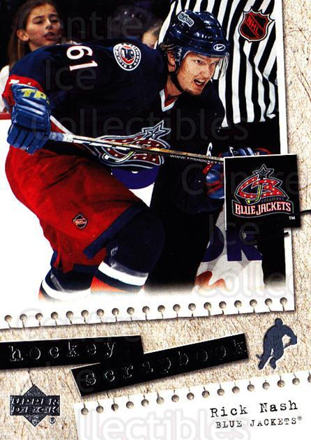 2005-06 Upper Deck Scrapbooks #10 Rick Nash<br/>8 In Stock - $2.00 each - <a href=https://centericecollectibles.foxycart.com/cart?name=2005-06%20Upper%20Deck%20Scrapbooks%20%2310%20Rick%20Nash...&quantity_max=8&price=$2.00&code=129369 class=foxycart> Buy it now! </a>