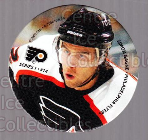2006 NHL POG #14 Simon Gagne<br/>10 In Stock - $2.00 each - <a href=https://centericecollectibles.foxycart.com/cart?name=2006%20NHL%20POG%20%2314%20Simon%20Gagne...&quantity_max=10&price=$2.00&code=129581 class=foxycart> Buy it now! </a>