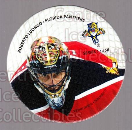 2006 NHL POG #58 Roberto Luongo<br/>6 In Stock - $2.00 each - <a href=https://centericecollectibles.foxycart.com/cart?name=2006%20NHL%20POG%20%2358%20Roberto%20Luongo...&quantity_max=6&price=$2.00&code=129619 class=foxycart> Buy it now! </a>