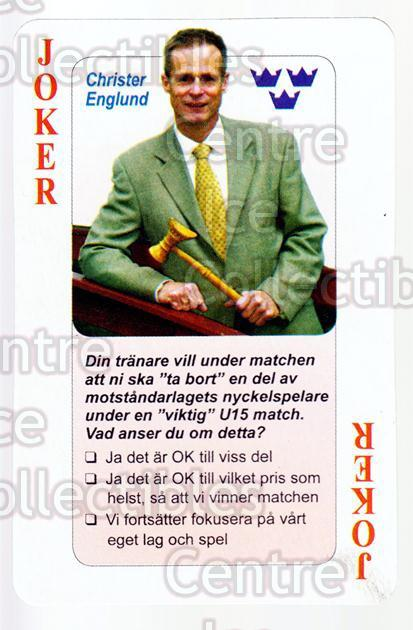 <a href=index.aspx?SetName=2006%20Swedish%20Fair%20Play%20Respect%20Playing%20Card>2006 Swedish Fair Play Respect Playing Card</a> #1 <a href=index.aspx?PlayerName=Christer%20Englund> Christer Englund</a><br/>5 in stock - $2.00 each - <a href=https://centericecollectibles.foxycart.com/cart?name=2006%20Swedish%20Fair%20Play%20Respect%20Playing%20Card%20%231%20Christer%20Englun...&price=$2.00&code=129664 class=foxycart> Buy it now! </a>