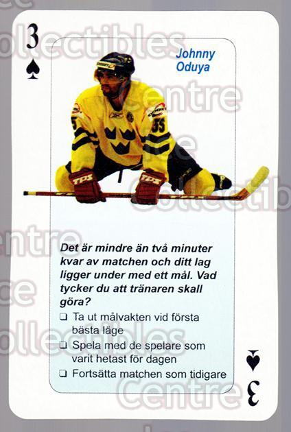2006 Swedish Fair Play Respect Playing Card #39 Johnny Oduya<br/>2 In Stock - $2.00 each - <a href=https://centericecollectibles.foxycart.com/cart?name=2006%20Swedish%20Fair%20Play%20Respect%20Playing%20Card%20%2339%20Johnny%20Oduya...&quantity_max=2&price=$2.00&code=129691 class=foxycart> Buy it now! </a>