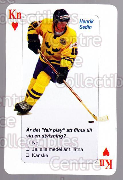 2006 Swedish Fair Play Respect Playing Card #44 Henrik Sedin<br/>5 In Stock - $2.00 each - <a href=https://centericecollectibles.foxycart.com/cart?name=2006%20Swedish%20Fair%20Play%20Respect%20Playing%20Card%20%2344%20Henrik%20Sedin...&quantity_max=5&price=$2.00&code=129695 class=foxycart> Buy it now! </a>