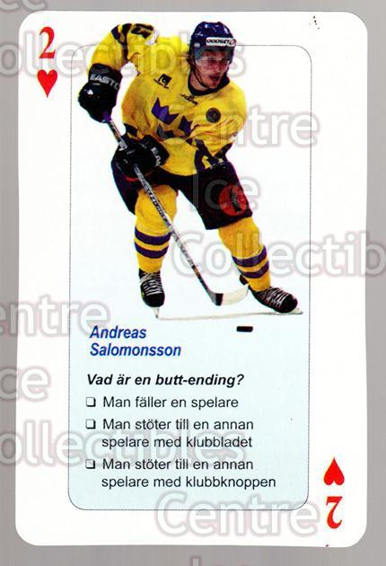 2006 Swedish Fair Play Respect Playing Card #53 Andreas Salomonsson<br/>4 In Stock - $2.00 each - <a href=https://centericecollectibles.foxycart.com/cart?name=2006%20Swedish%20Fair%20Play%20Respect%20Playing%20Card%20%2353%20Andreas%20Salomon...&price=$2.00&code=129705 class=foxycart> Buy it now! </a>
