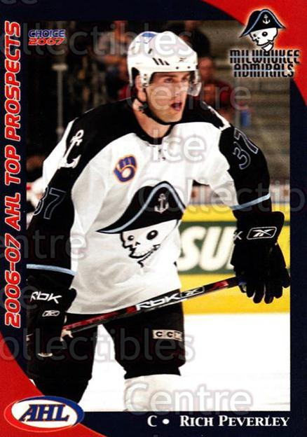 2006-07 AHL Top Prospects #25 Rich Peverley<br/>7 In Stock - $3.00 each - <a href=https://centericecollectibles.foxycart.com/cart?name=2006-07%20AHL%20Top%20Prospects%20%2325%20Rich%20Peverley...&price=$3.00&code=129771 class=foxycart> Buy it now! </a>