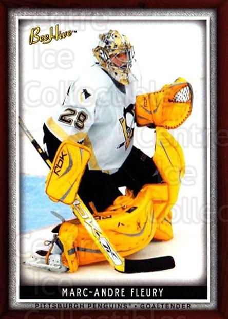 2006-07 Beehive #21 Marc-Andre Fleury<br/>3 In Stock - $2.00 each - <a href=https://centericecollectibles.foxycart.com/cart?name=2006-07%20Beehive%20%2321%20Marc-Andre%20Fleu...&quantity_max=3&price=$2.00&code=130081 class=foxycart> Buy it now! </a>