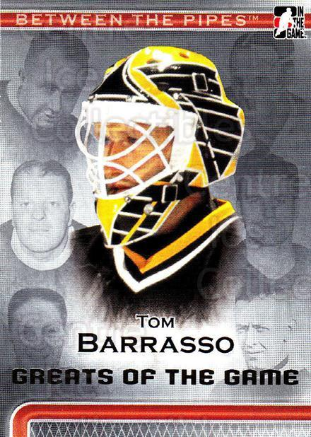 2006-07 Between The Pipes #102 Tom Barrasso<br/>4 In Stock - $1.00 each - <a href=https://centericecollectibles.foxycart.com/cart?name=2006-07%20Between%20The%20Pipes%20%23102%20Tom%20Barrasso...&price=$1.00&code=130168 class=foxycart> Buy it now! </a>