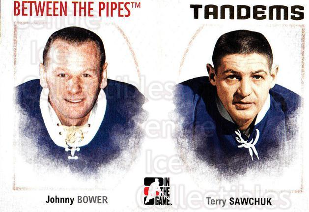 2006-07 Between The Pipes #135 Johnny Bower, Terry Sawchuk<br/>4 In Stock - $1.00 each - <a href=https://centericecollectibles.foxycart.com/cart?name=2006-07%20Between%20The%20Pipes%20%23135%20Johnny%20Bower,%20T...&price=$1.00&code=130199 class=foxycart> Buy it now! </a>
