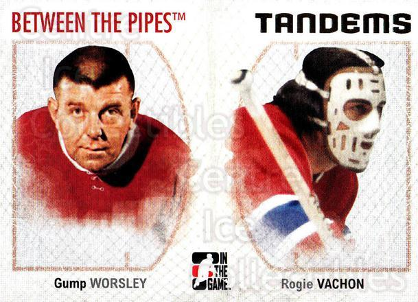 2006-07 Between The Pipes #138 Gump Worsley, Rogatien Vachon<br/>5 In Stock - $1.00 each - <a href=https://centericecollectibles.foxycart.com/cart?name=2006-07%20Between%20The%20Pipes%20%23138%20Gump%20Worsley,%20R...&price=$1.00&code=130202 class=foxycart> Buy it now! </a>