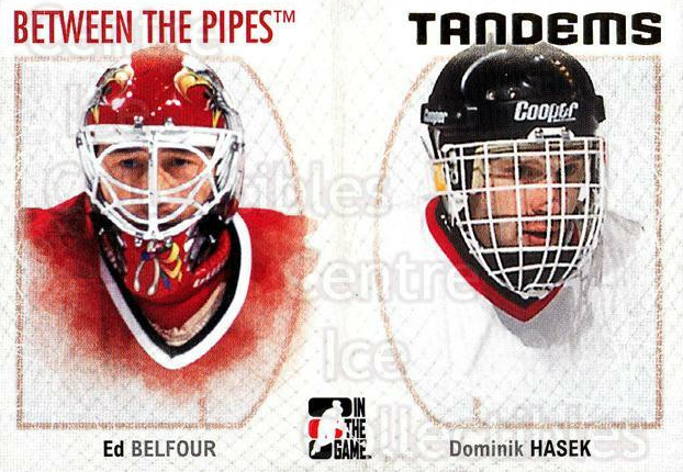 2006-07 Between The Pipes #139 Ed Belfour, Dominik Hasek<br/>6 In Stock - $1.00 each - <a href=https://centericecollectibles.foxycart.com/cart?name=2006-07%20Between%20The%20Pipes%20%23139%20Ed%20Belfour,%20Dom...&price=$1.00&code=130203 class=foxycart> Buy it now! </a>