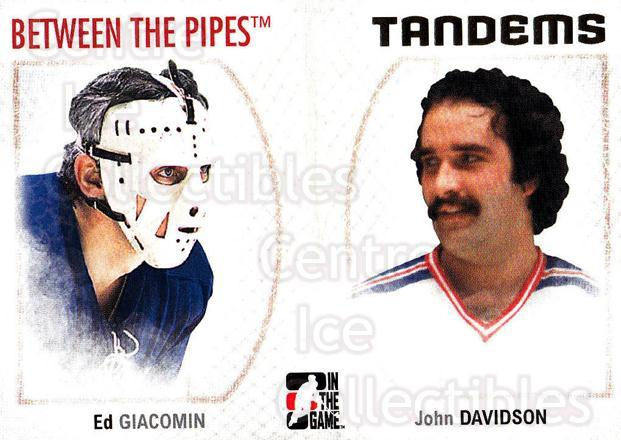 2006-07 Between The Pipes #140 Ed Giacomin, John Davidson<br/>5 In Stock - $1.00 each - <a href=https://centericecollectibles.foxycart.com/cart?name=2006-07%20Between%20The%20Pipes%20%23140%20Ed%20Giacomin,%20Jo...&price=$1.00&code=130205 class=foxycart> Buy it now! </a>