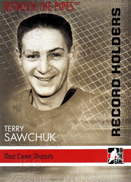 2006-07 Between The Pipes #144 Terry Sawchuk<br/>6 In Stock - $1.00 each - <a href=https://centericecollectibles.foxycart.com/cart?name=2006-07%20Between%20The%20Pipes%20%23144%20Terry%20Sawchuk...&price=$1.00&code=130208 class=foxycart> Buy it now! </a>