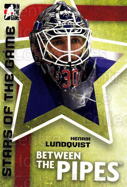 2006-07 Between The Pipes #63 Henrik Lundqvist<br/>3 In Stock - $1.00 each - <a href=https://centericecollectibles.foxycart.com/cart?name=2006-07%20Between%20The%20Pipes%20%2363%20Henrik%20Lundqvis...&price=$1.00&code=130267 class=foxycart> Buy it now! </a>