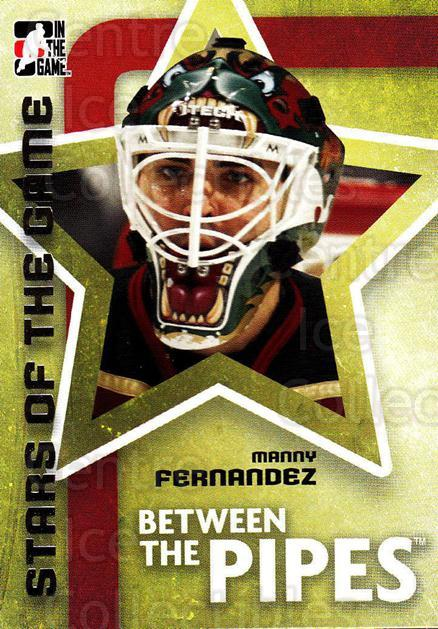 2006-07 Between The Pipes #68 Manny Fernandez<br/>6 In Stock - $1.00 each - <a href=https://centericecollectibles.foxycart.com/cart?name=2006-07%20Between%20The%20Pipes%20%2368%20Manny%20Fernandez...&price=$1.00&code=130272 class=foxycart> Buy it now! </a>