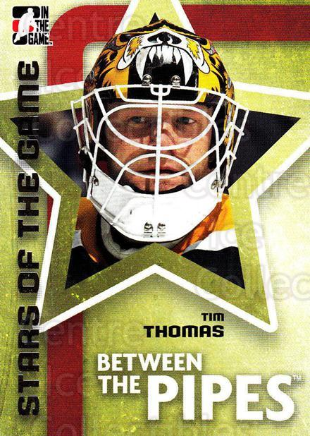 2006-07 Between The Pipes #77 Tim Thomas<br/>6 In Stock - $1.00 each - <a href=https://centericecollectibles.foxycart.com/cart?name=2006-07%20Between%20The%20Pipes%20%2377%20Tim%20Thomas...&price=$1.00&code=130281 class=foxycart> Buy it now! </a>