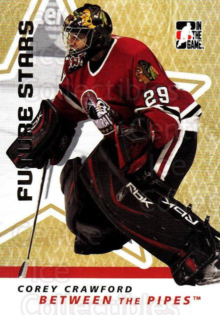 2006-07 Between The Pipes #9 Corey Crawford<br/>2 In Stock - $1.00 each - <a href=https://centericecollectibles.foxycart.com/cart?name=2006-07%20Between%20The%20Pipes%20%239%20Corey%20Crawford...&price=$1.00&code=130295 class=foxycart> Buy it now! </a>