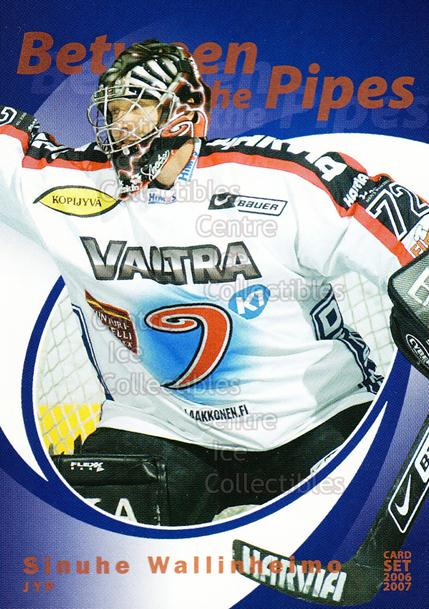 2006-07 Finnish Cardset Between the Pipes #11 Sinuhe Wallinheimo<br/>4 In Stock - $3.00 each - <a href=https://centericecollectibles.foxycart.com/cart?name=2006-07%20Finnish%20Cardset%20Between%20the%20Pipes%20%2311%20Sinuhe%20Wallinhe...&quantity_max=4&price=$3.00&code=130307 class=foxycart> Buy it now! </a>
