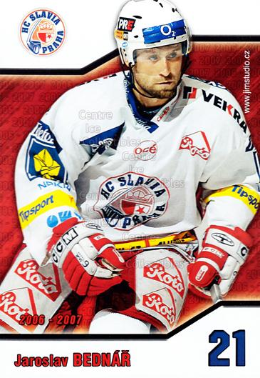 2006-07 Czech HC Slavia Praha Postcards #1 Jaroslav Bednar<br/>1 In Stock - $3.00 each - <a href=https://centericecollectibles.foxycart.com/cart?name=2006-07%20Czech%20HC%20Slavia%20Praha%20Postcards%20%231%20Jaroslav%20Bednar...&price=$3.00&code=130618 class=foxycart> Buy it now! </a>