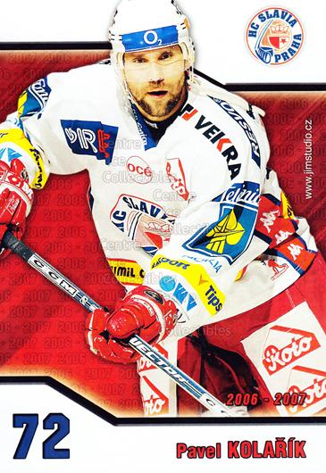 2006-07 Czech HC Slavia Praha Postcards #10 Pavel Kolarik<br/>1 In Stock - $3.00 each - <a href=https://centericecollectibles.foxycart.com/cart?name=2006-07%20Czech%20HC%20Slavia%20Praha%20Postcards%20%2310%20Pavel%20Kolarik...&price=$3.00&code=130619 class=foxycart> Buy it now! </a>