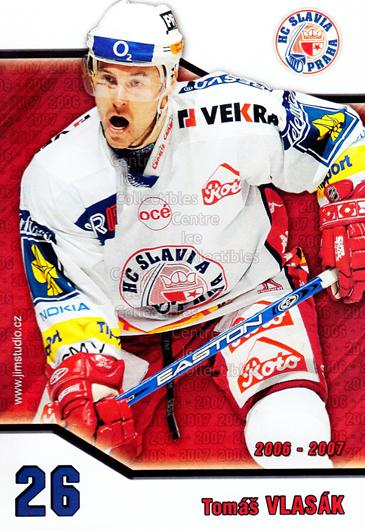2006-07 Czech HC Slavia Praha Postcards #15 Tomas Vlasak<br/>1 In Stock - $3.00 each - <a href=https://centericecollectibles.foxycart.com/cart?name=2006-07%20Czech%20HC%20Slavia%20Praha%20Postcards%20%2315%20Tomas%20Vlasak...&price=$3.00&code=130621 class=foxycart> Buy it now! </a>