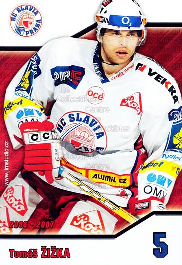2006-07 Czech HC Slavia Praha Postcards #16 Tomas Zizka<br/>2 In Stock - $3.00 each - <a href=https://centericecollectibles.foxycart.com/cart?name=2006-07%20Czech%20HC%20Slavia%20Praha%20Postcards%20%2316%20Tomas%20Zizka...&price=$3.00&code=130622 class=foxycart> Buy it now! </a>