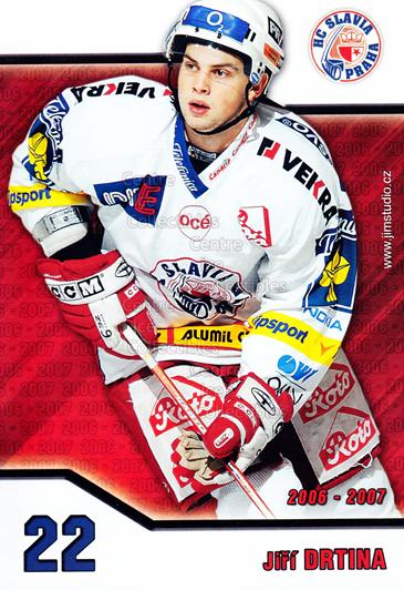 2006-07 Czech HC Slavia Praha Postcards #6 Jiri Drtina<br/>2 In Stock - $3.00 each - <a href=https://centericecollectibles.foxycart.com/cart?name=2006-07%20Czech%20HC%20Slavia%20Praha%20Postcards%20%236%20Jiri%20Drtina...&price=$3.00&code=130626 class=foxycart> Buy it now! </a>