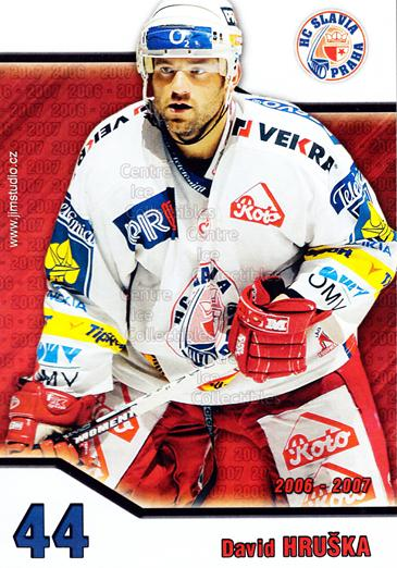 2006-07 Czech HC Slavia Praha Postcards #9 David Hruska<br/>2 In Stock - $3.00 each - <a href=https://centericecollectibles.foxycart.com/cart?name=2006-07%20Czech%20HC%20Slavia%20Praha%20Postcards%20%239%20David%20Hruska...&price=$3.00&code=130628 class=foxycart> Buy it now! </a>