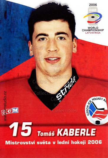 2006-07 Czech World Championship Portraits Postcards #11 Tomas Kaberle<br/>1 In Stock - $3.00 each - <a href=https://centericecollectibles.foxycart.com/cart?name=2006-07%20Czech%20World%20Championship%20Portraits%20Postcards%20%2311%20Tomas%20Kaberle...&quantity_max=1&price=$3.00&code=130663 class=foxycart> Buy it now! </a>