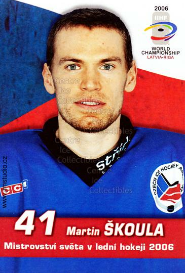 2006-07 Czech World Championship Portraits Postcards #19 Martin Skoula<br/>2 In Stock - $3.00 each - <a href=https://centericecollectibles.foxycart.com/cart?name=2006-07%20Czech%20World%20Championship%20Portraits%20Postcards%20%2319%20Martin%20Skoula...&quantity_max=2&price=$3.00&code=130668 class=foxycart> Buy it now! </a>