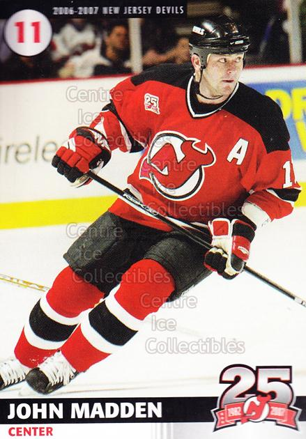 2006-07 New Jersey Devils Team Issue #14 John Madden<br/>8 In Stock - $3.00 each - <a href=https://centericecollectibles.foxycart.com/cart?name=2006-07%20New%20Jersey%20Devils%20Team%20Issue%20%2314%20John%20Madden...&quantity_max=8&price=$3.00&code=130825 class=foxycart> Buy it now! </a>