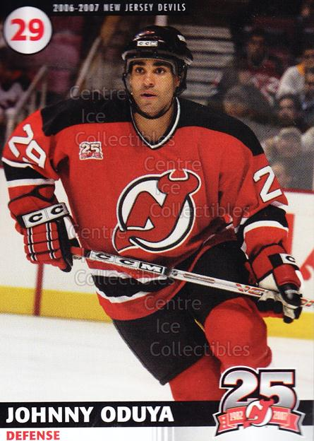 2006-07 New Jersey Devils Team Issue #18 Johnny Oduya<br/>7 In Stock - $3.00 each - <a href=https://centericecollectibles.foxycart.com/cart?name=2006-07%20New%20Jersey%20Devils%20Team%20Issue%20%2318%20Johnny%20Oduya...&quantity_max=7&price=$3.00&code=130829 class=foxycart> Buy it now! </a>