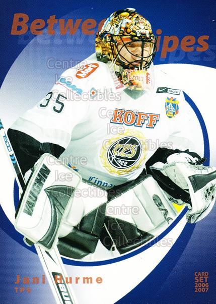 2006-07 Finnish Cardset Between the Pipes #22 Jani Hurme<br/>7 In Stock - $3.00 each - <a href=https://centericecollectibles.foxycart.com/cart?name=2006-07%20Finnish%20Cardset%20Between%20the%20Pipes%20%2322%20Jani%20Hurme...&quantity_max=7&price=$3.00&code=130858 class=foxycart> Buy it now! </a>