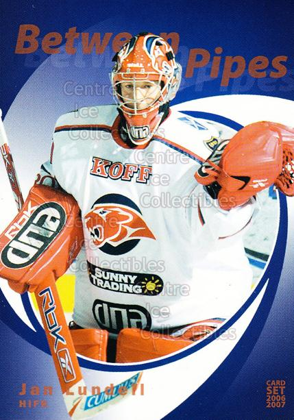 2006-07 Finnish Cardset Between the Pipes #4 Jan Lundell<br/>8 In Stock - $3.00 each - <a href=https://centericecollectibles.foxycart.com/cart?name=2006-07%20Finnish%20Cardset%20Between%20the%20Pipes%20%234%20Jan%20Lundell...&quantity_max=8&price=$3.00&code=130862 class=foxycart> Buy it now! </a>
