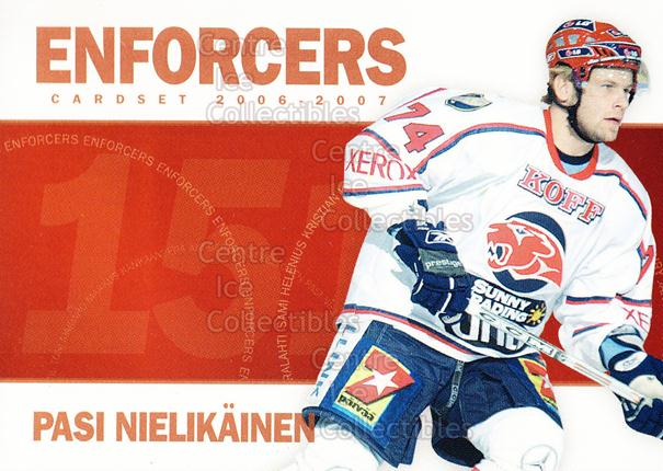 2006-07 Finnish Cardset Enforcers #11 Pasi Nielikainen<br/>7 In Stock - $3.00 each - <a href=https://centericecollectibles.foxycart.com/cart?name=2006-07%20Finnish%20Cardset%20Enforcers%20%2311%20Pasi%20Nielikaine...&quantity_max=7&price=$3.00&code=130869 class=foxycart> Buy it now! </a>