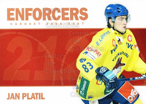 2006-07 Finnish Cardset Enforcers #6 Jan Platil<br/>3 In Stock - $3.00 each - <a href=https://centericecollectibles.foxycart.com/cart?name=2006-07%20Finnish%20Cardset%20Enforcers%20%236%20Jan%20Platil...&price=$3.00&code=130875 class=foxycart> Buy it now! </a>