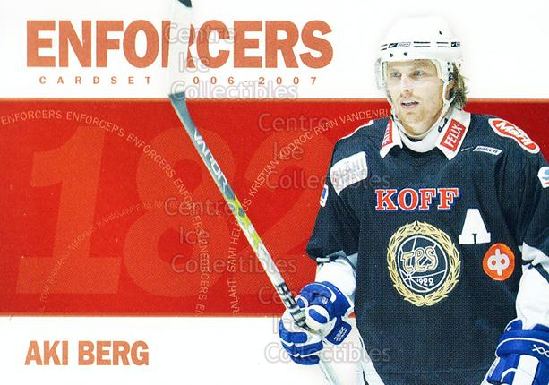 2006-07 Finnish Cardset Enforcers #9 Aki Berg<br/>8 In Stock - $3.00 each - <a href=https://centericecollectibles.foxycart.com/cart?name=2006-07%20Finnish%20Cardset%20Enforcers%20%239%20Aki%20Berg...&quantity_max=8&price=$3.00&code=130878 class=foxycart> Buy it now! </a>