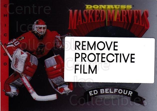 1994-95 Donruss Masked Marvels #1 Ed Belfour<br/>5 In Stock - $5.00 each - <a href=https://centericecollectibles.foxycart.com/cart?name=1994-95%20Donruss%20Masked%20Marvels%20%231%20Ed%20Belfour...&price=$5.00&code=1308 class=foxycart> Buy it now! </a>