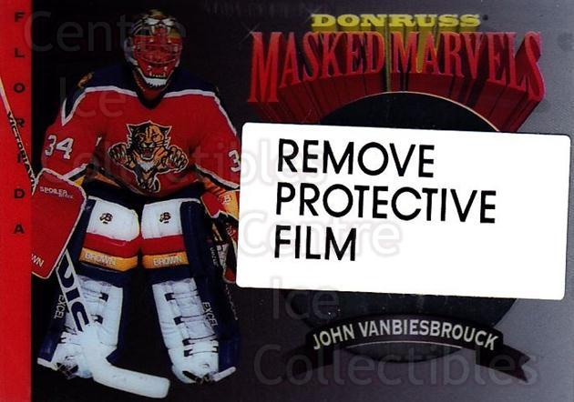 1994-95 Donruss Masked Marvels #10 John Vanbiesbrouck<br/>4 In Stock - $3.00 each - <a href=https://centericecollectibles.foxycart.com/cart?name=1994-95%20Donruss%20Masked%20Marvels%20%2310%20John%20Vanbiesbro...&quantity_max=4&price=$3.00&code=1309 class=foxycart> Buy it now! </a>