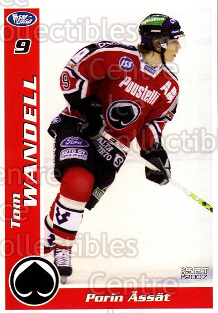2006-07 Finnish Porin Assat Pelaajakortit #16 Tom Wandell<br/>6 In Stock - $3.00 each - <a href=https://centericecollectibles.foxycart.com/cart?name=2006-07%20Finnish%20Porin%20Assat%20Pelaajakortit%20%2316%20Tom%20Wandell...&quantity_max=6&price=$3.00&code=131035 class=foxycart> Buy it now! </a>