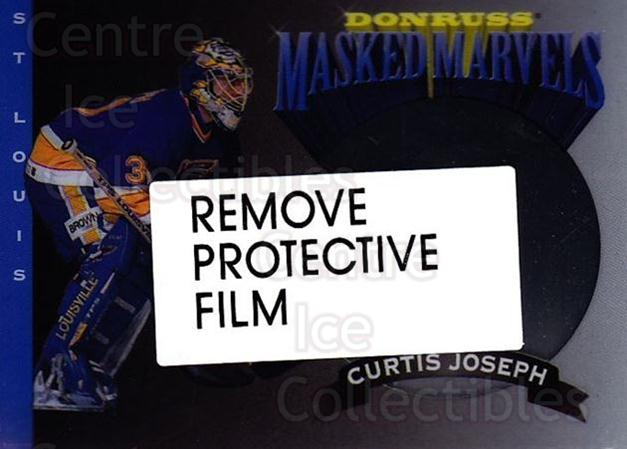 1994-95 Donruss Masked Marvels #5 Curtis Joseph<br/>8 In Stock - $3.00 each - <a href=https://centericecollectibles.foxycart.com/cart?name=1994-95%20Donruss%20Masked%20Marvels%20%235%20Curtis%20Joseph...&quantity_max=8&price=$3.00&code=1311 class=foxycart> Buy it now! </a>
