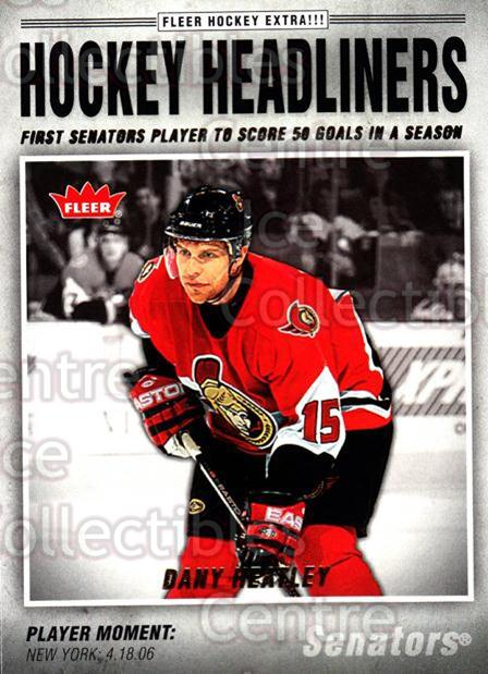 2006-07 Fleer Hockey Headliners #17 Dany Heatley<br/>6 In Stock - $2.00 each - <a href=https://centericecollectibles.foxycart.com/cart?name=2006-07%20Fleer%20Hockey%20Headliners%20%2317%20Dany%20Heatley...&quantity_max=6&price=$2.00&code=131213 class=foxycart> Buy it now! </a>