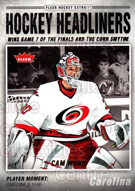 2006-07 Fleer Hockey Headliners #4 Cam Ward<br/>5 In Stock - $2.00 each - <a href=https://centericecollectibles.foxycart.com/cart?name=2006-07%20Fleer%20Hockey%20Headliners%20%234%20Cam%20Ward...&price=$2.00&code=131220 class=foxycart> Buy it now! </a>