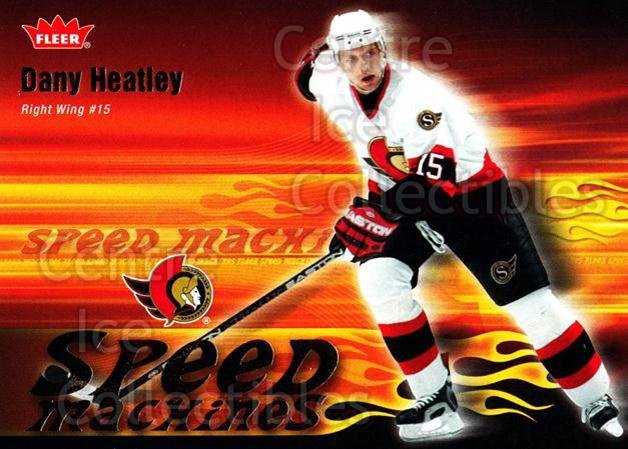 2006-07 Fleer Speed Machines #18 Dany Heatley<br/>4 In Stock - $2.00 each - <a href=https://centericecollectibles.foxycart.com/cart?name=2006-07%20Fleer%20Speed%20Machines%20%2318%20Dany%20Heatley...&quantity_max=4&price=$2.00&code=131244 class=foxycart> Buy it now! </a>