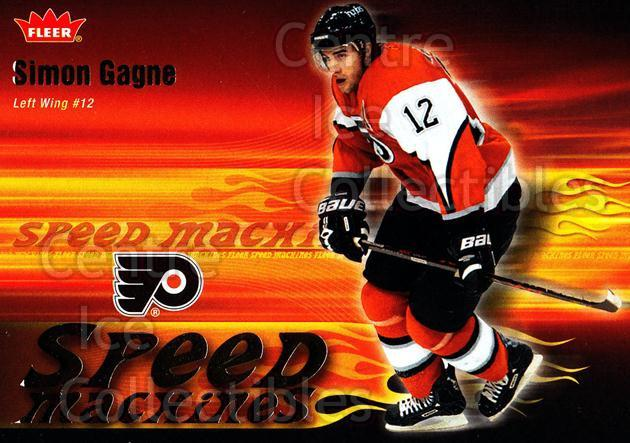 2006-07 Fleer Speed Machines #20 Simon Gagne<br/>4 In Stock - $2.00 each - <a href=https://centericecollectibles.foxycart.com/cart?name=2006-07%20Fleer%20Speed%20Machines%20%2320%20Simon%20Gagne...&quantity_max=4&price=$2.00&code=131246 class=foxycart> Buy it now! </a>